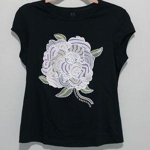Armani Exchange Black T Shirt- size L